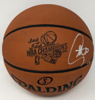 """STEPHEN CURRY Autographed """"B2B Champs"""" Engraved Basketball STEINER LE 30"""