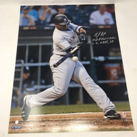 "MIGUEL ANDUJAR Autographed / Inscribed ""MLB Debut"" 16"" x 20"" Photograph STEINER"