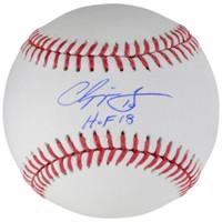 "CHIPPER JONES Autographed Atlanta Braves ""HOF 2018"" Official Baseball FANATICS"
