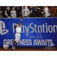 "AARON JUDGE Autographed 16"" x 20"" ""ALCS Game 3 Wall Catch"" Photograph FANATICS"