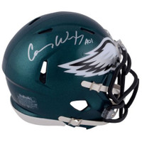 CARSON WENTZ Autographed Philadelphia Eagles Speed Mini Helmet FANATICS