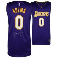 KYLE KUZMA Autographed Purple Los Angeles Lakers Jersey FANATICS