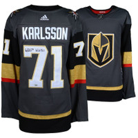 WILLIAM KARLSSON Autographed Golden Knights Authentic Black Jersey FANATICS
