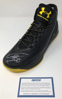 STEPHEN CURRY Autographed Warriors Curry 3 Under Armor Black/Camo Shoe STEINER