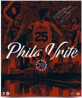 "BEN SIMMONS Autographed Philadelphia 76ers ""City United"" 20 x 24 Photograph UDA"