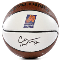 CHARLES BARKLEY Autographed Phoenix Suns White Panel Basketball PANINI