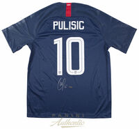 CHRISTIAN PULISIC Signed 2018 Nike US Men's Blue #10 Authentic Jersey PANINI