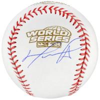 DAVID ORTIZ Autographed Boston Red Sox 2004 World Series Baseball FANATICS