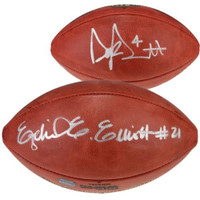 EZEKIEL ELLIOTT / DAK PRESCOTT Autographed Authentic NFL Football FANATICS