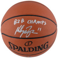"KLAY THOMPSON Autographed / Inscribed ""B2B Champs"" Spalding Basketball FANATICS"