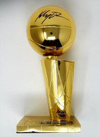 "KLAY THOMPSON Autographed ""2018 Finals Champions"" Warriors 12"" Trophy FANATICS"