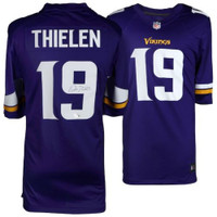 ADAM THIELEN Autographed Minnesota Vikings Purple Game Jersey FANATICS