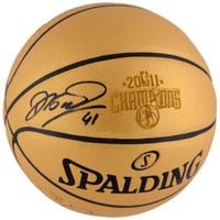 DIRK NOWITZKI Autographed 2011 NBA Finals Champions Spalding Basketball FANATICS