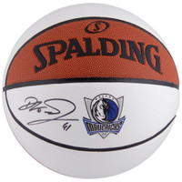 DIRK NOWITZKI Autographed Dallas Mavericks White Panel Basketball FANATICS