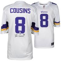 KIRK COUSINS Autographed Minnesota Vikings Nike White Game Jersey FANATICS