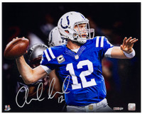 "ANDREW LUCK Hand Signed 16 x 20 ""Pocket"" Photograph PANINI LE 25"