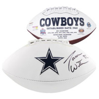 JASON WITTEN Autographed Dallas Cowboys White Panel Football FANATICS