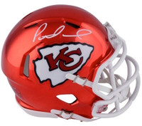 PATRICK MAHOMES Autographed Kansas City Chiefs Mini Chrome Helmet FANATICS