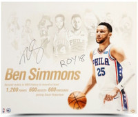 "BEN SIMMONS Autographed ROY 18 76ers ""NBA Royalty"" 20 x 24 Photograph UDA LE 225"