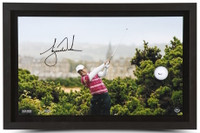 TIGER WOODS Autographed Break Through Framed Display UDA LE 250