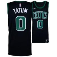 JAYSON TATUM Boston Celtics Autographed Black Nike Swingman Jersey FANATICS