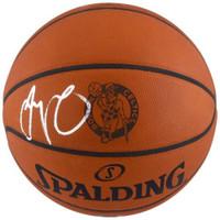 JAYSON TATUM Celtics Logo Autographed Authentic Spalding Basketball FANATICS