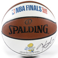 KEVIN DURANT Autographed Warriors 2018 Finals White Panel Basketball PANINI