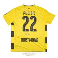 CHRISTIAN PULISIC Autographed Borussia Dortmund Yellow #22 Jersey PANINI