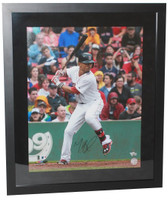 "MOOKIE BETTS Autographed Red Sox ""HR Swing"" 16"" x 20"" Framed Photograph FANATICS"