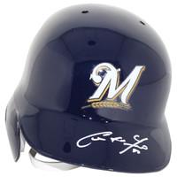 CHRISTIAN YELICH Autographed Milwaukee Brewers Right Ear Flap Batting Helmet - STEINER