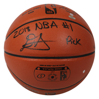 "DEANDRE AYTON Autographed (Black) and Inscribed ""2018 NBA #1 Pick"" Game Ball Series Spalding Basketball - Limited Edition of 22 - GAME DAY LEGENDS & STEINER"
