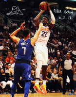 "DEANDRE AYTON Autographed and Inscribed Phoenix Suns ""NBA Debut 10/17/18"" Jump Shot 16"" x 20"" Photograph - Limited Edition of 22 - GAME DAY LEGENDS & STEINER"