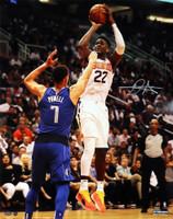 """DEANDRE AYTON Autographed Phoenix Suns """"Jump Shot"""" 16"""" x 20"""" Photograph - GAME DAY LEGENDS & STEINER"""