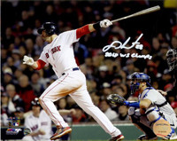 """J.D. MARTINEZ Autographed/Inscribed """"2018 WS Champs"""" 2018 World Series 16x20 Photograph STEINER"""