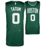 JAYSON TATUM Autographed Boston Celtics Green Fastbreak Jersey FANATICS