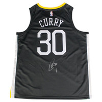 "STEPHEN CURRY Autographed Golden State Warriors Grey Nike Dri-FIT Men's ""The Town"" Swingman Jersey (On Court Style with Rakuten logo) STEINER"