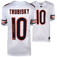 MITCHELL TRUBISKY Autographed Chicago Bears White Limited Nike Jersey FANATICS