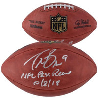 "DREW BREES Autographed New Orleans Saints ""NFL Pass Record 10/8/18"" Football FANATICS"