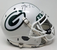 AARON RODGERS Autographed Green Bay Packers Hydro Dipped White Authentic Schutt Helmet STEINER Limited Edition 12 of 12