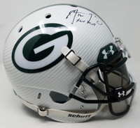 "AARON RODGERS Autographed / Inscribed ""XLV MVP"" Green Bay Packers Hydro Dipped White Authentic Schutt Helmet STEINER Limited Edition 1 of 12"