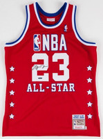 MICHAEL JORDAN Signed 1989 All Star M&N Authentic Jersey UDA
