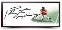 "PEYTON MANNING Signed ""The Show"" 46 x 20 Framed Lithograph UDA"
