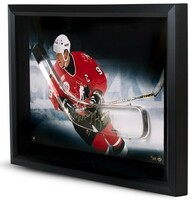 WAYNE GRETZKY Signed Team Canada Stick Blade Break Through Photo UDA