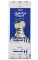 """WAYNE GRETZKY Signed 13"""" x 33"""" 88 Stanley Cup Mega Ticket UDA"""