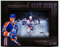 "WAYNE GRETZKY Signed Oilers 16 x 20 ""Center Ice"" Shadow Box UDA"