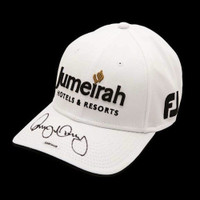 RORY McIlroy Hand Signed Jumeirah White Hat UDA