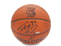 SHAQUILLE O'NEAL SIGNED 4X NBA CHAMPION ENGRAVED REPLICA BASKETBALL