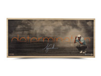 "TIGER WOODS AUTOGRAPHED ""DETERMINATION"" BAMBOO PRINT"