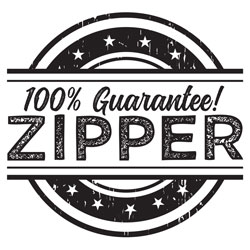 100% Guarantee! Zipper