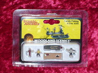 Woodland Scenics A2203 N FAMILY FISHING FIGURES New z